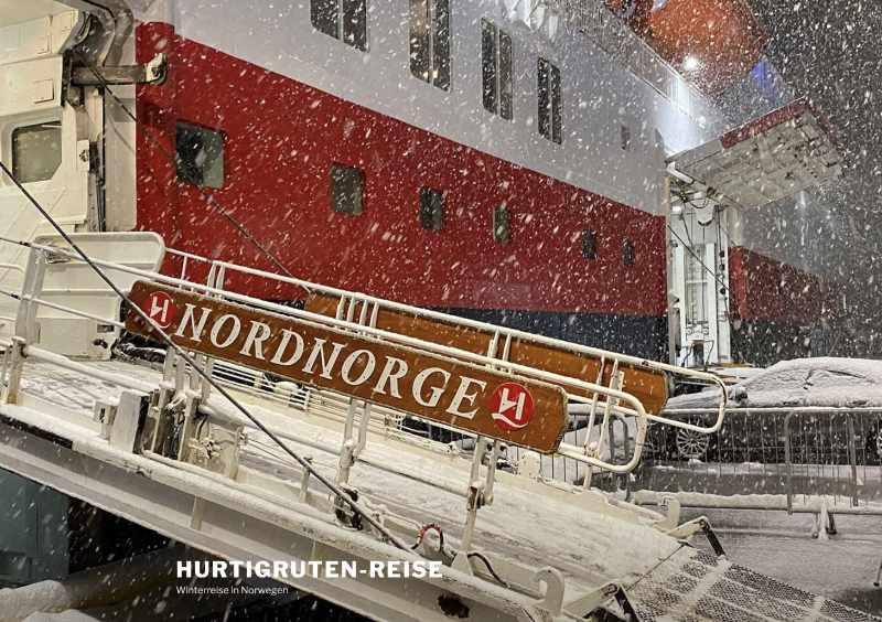 Blogg Winterreise Hurtigruten im Januar 2020