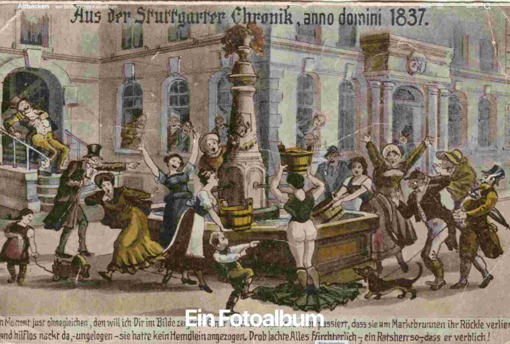 Ein besonderes Fotoalbum: Screenshot Website Altbacken